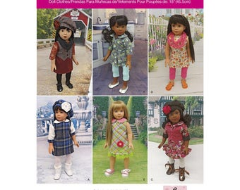 "Simplicity Pattern 1089 Doll Clothes for 18"" Doll"
