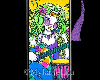 Melody Rainbow Musical Hippie Fairy Art BOOKMARK