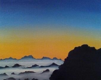 Sunset in Mountain landscape