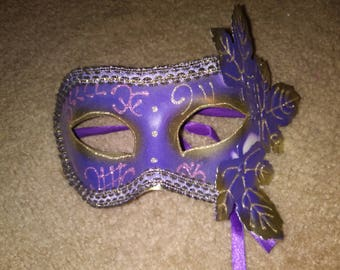 One of a kind metal masquerade mask