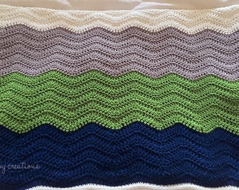 Soft Ripple Baby Blanket - Made to Order
