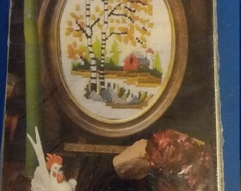 Needlepoint Kit American Family Crafts Birches & Barn 5162 Creative Handicraft Includes Frame Easy To Follow Instructions Gift