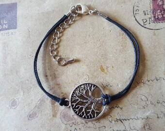 Tree - bracelet-black-