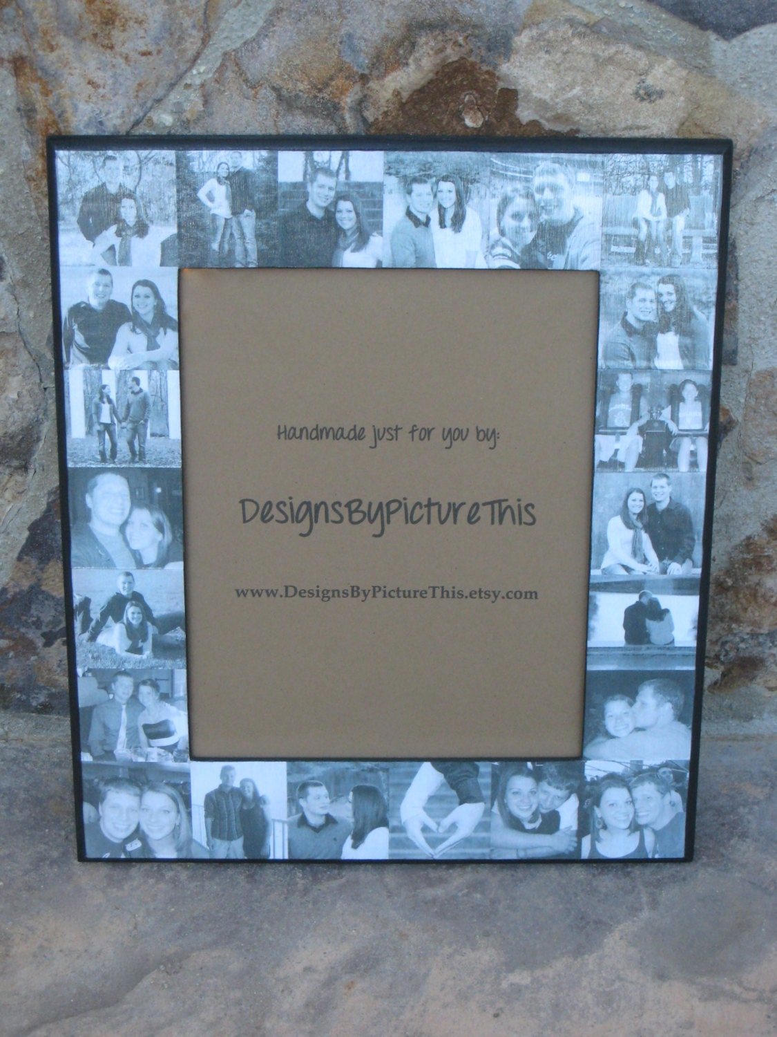 Unique Engagement Gift Collage Picture Frame Custom Collage