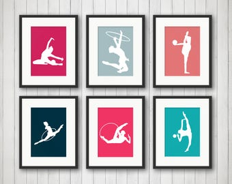 Dance Gifts - Ribbon Dancer - Gift for Girl - Artistic Dance Prints - Teen Girl Wall Art - Hula Hoop Dancer - Dance Art - Girls Room Decor