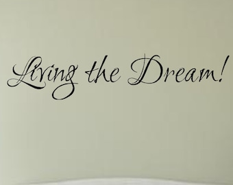 Dream Wall Decal Etsy