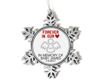 Pregnancy Loss Christmas Ornament - Miscarriage Memorial Gift Christmas Ornament - Snowflake Silver Ornament