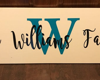 Large Personalized Name Sign