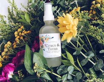 CITRUS & THYME Linen + Air Mist | Room Spray | Room Fragrance