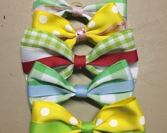 5 Spring collar bows