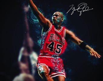 Michael Jordan Poster Chicago Bulls Art Print (18x24)