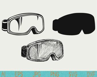 ski goggles svg/skiing/snowboard goggles/silhouette/png/cut file/vinyl/digital download/cameo/cricut/clipart/silhouette studio/logo/clip art
