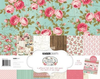 Kaisercraft - Miss Betty Collection - 12 x 12 Paper Pack New Item