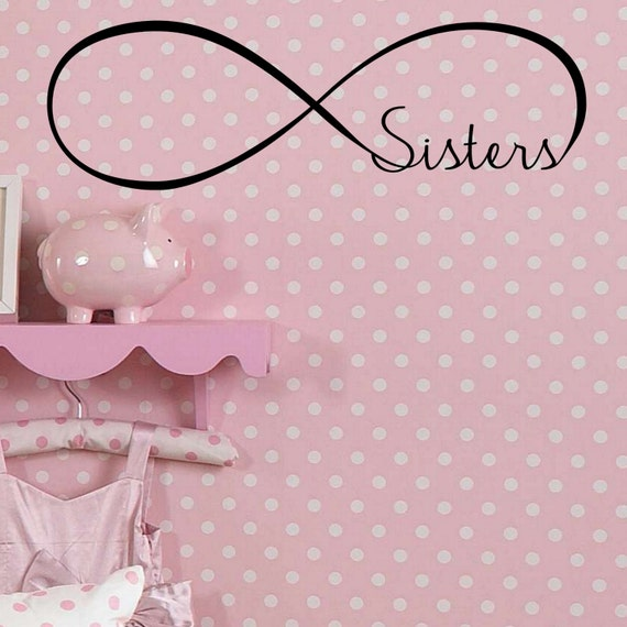 Infinity Sisters Decal Wall Vinyl Sticker Family Infinity