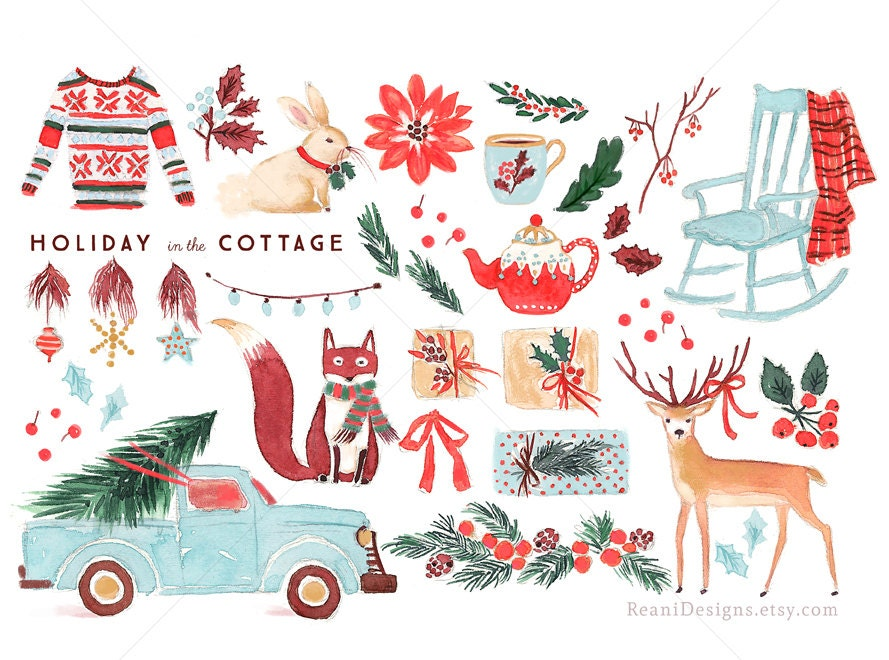 Holiday In The Cottage Clip Art For Personal And Commercial