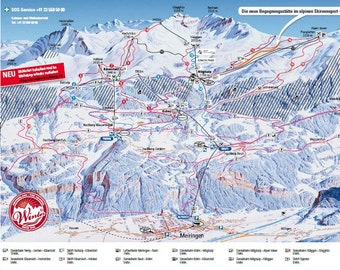 Swiss ski map Etsy