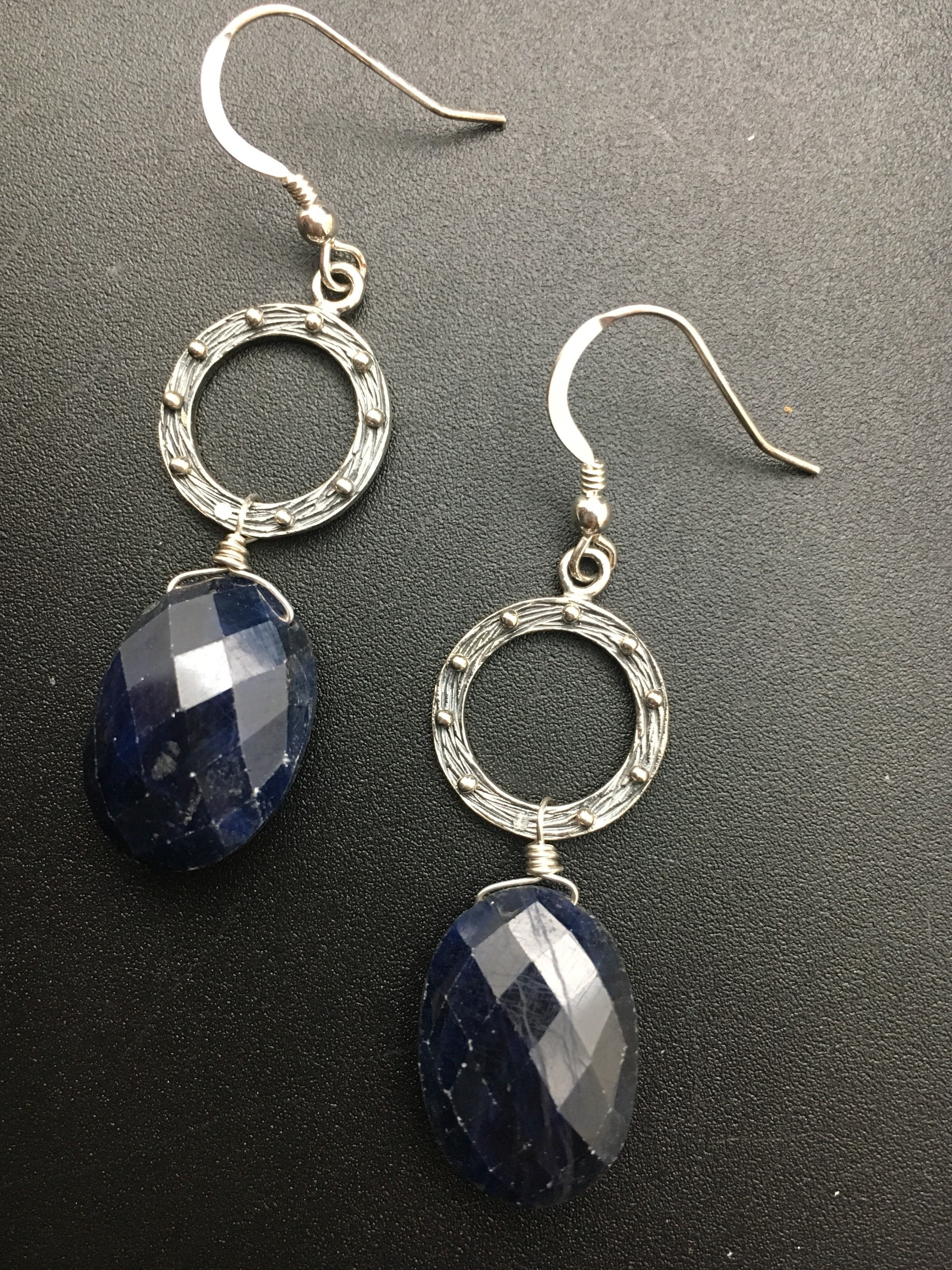 scott organic margo product sapphire briolette design earrings lapis briolettes