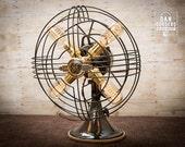 Fan Lamp | GE Model | Table Lamp | Desk Lamp | Nightlight | Bed light | Vintage Fan | Lamp | Steampunk lamp | Steampunk | Industrial Light
