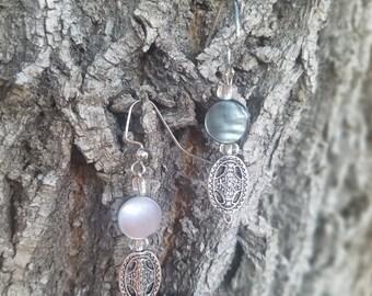 Mother of Pearl Dangle Earrings