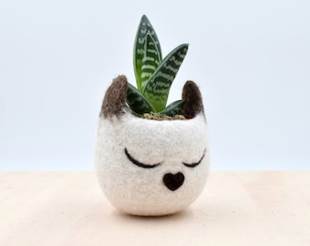 Cat lover gift for her, Pet gift, Planter, Succulent planter, Siamese cat mini planter, Head cat planter, Small succulent pot, pet lover