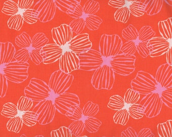 Flowers, Daydreams by Moda, Orange Fabric, Floral Fabric, Orange Floral Fabric, 05085