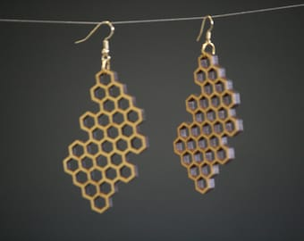 Laser Cut Honeycomb earrings