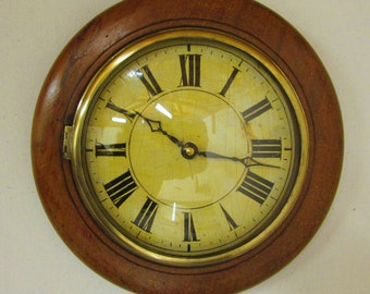 1890s Oak Vintage Post Office Clock