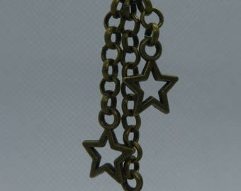 Earrings in chain optics with stars