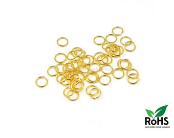 Golden - 4/6/10mm - 100 or 1000 Open Rings
