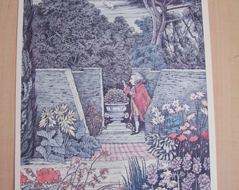Maurice Sendak Print Mozart in the Garden