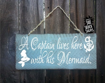 mermaid, mermaid decor, mermaid wall art, mermaid decorations, mermaids, mermaid wall decor, mermaid and captain live here, 30