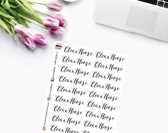 CLEAN HOUSE Planner Stickers - CAM00255-2