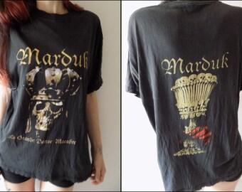 Vintage Marduk T-shirt/Vintage Band T-shirt/Vintage Black Metal T-shirt/La Grande Danse Macabre Marduk T-shirt/Death Metal T-shirt