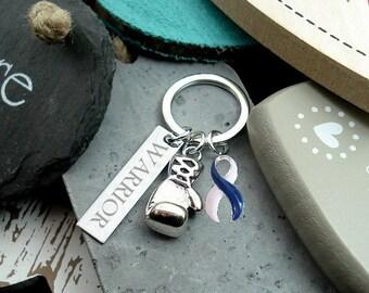 BLW-6 P3 Keep Fighting WARRIOR, ALS, Colon Cancer Survivor, Child Abuse Survivor      Blue/White