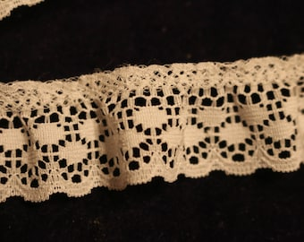 11-A  ruffled white vintage lace