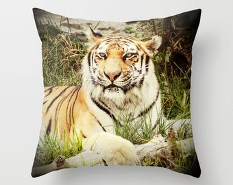 Bengal Tiger, Tiger, Pillow, Pillow Cover, Fine Art, Housewares, Accessories, Gift, Animals, Animal Photography