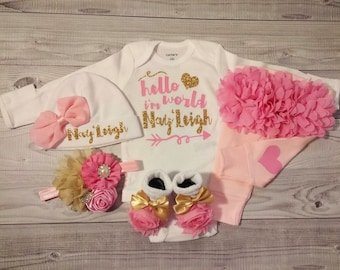 baby girl coming home outfit, take home outfit, newborn baby girl outfit, baby girl going home outfit, baby girl clothes, newborn take home