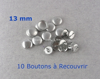"""10 Cover Buttons 1/2"""" (Size 20)"""