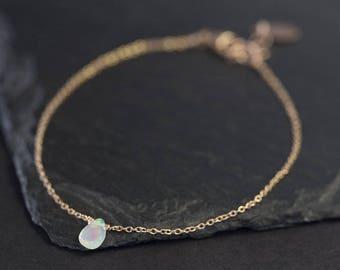 Natural Opal Teardrop Bracelet