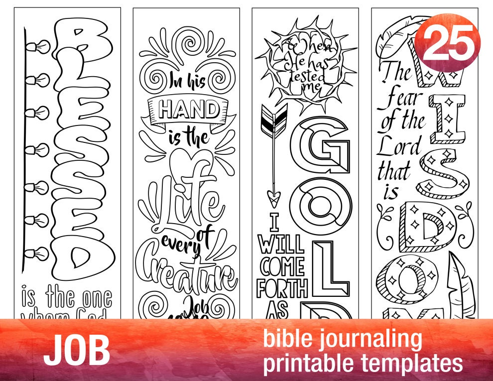 Job 4 Bible Journaling Printable on Create Your Own Traceable Name