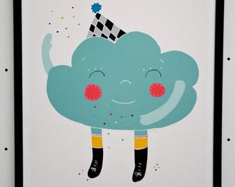 Print- Happy Cloud-