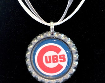 Chicago CUBS Baseball Handcrafted Necklace