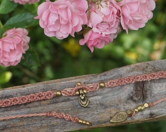 Macrium Choker chain in pink