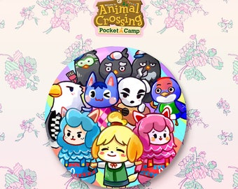 """Animal Crossing Pocket Camp Villagers Button Badge 