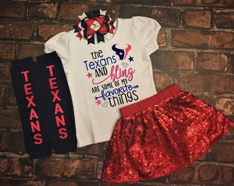 Texans and Bling, baby fan gear, I love the Texans, Texans football, Texans baby, girl clothes, Girls Football Outfit, fan gear, football