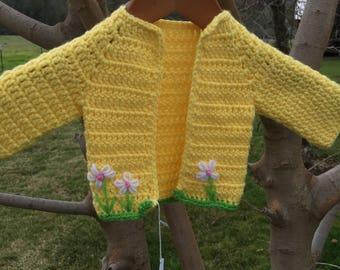 Cochet newborn sweater