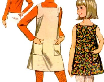 1967 Size 7 McCalls 9134 Girls Dress or Jumper Blouse Quickie Pattern Girls Sewing Pattern Supply Girls Dress Pattern Girls Blouse Pattern c