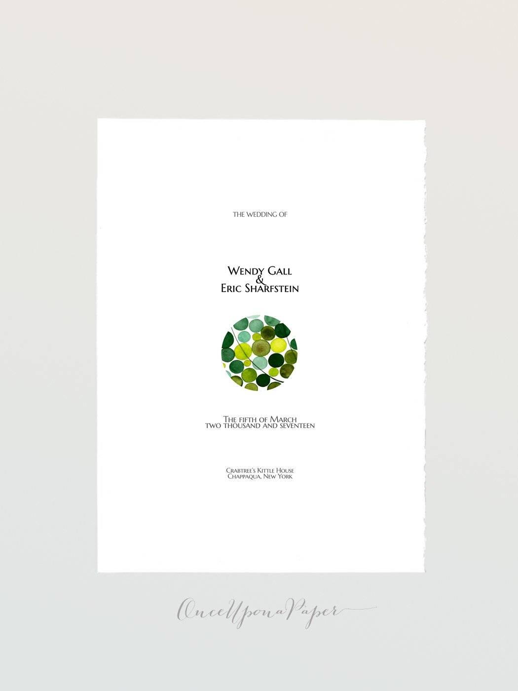 Hochzeit-Programm in 4 druckbare Kartendesigns Printable