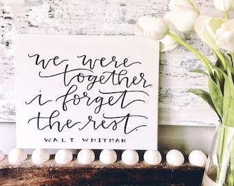 Walt Whitman Quote Canvas