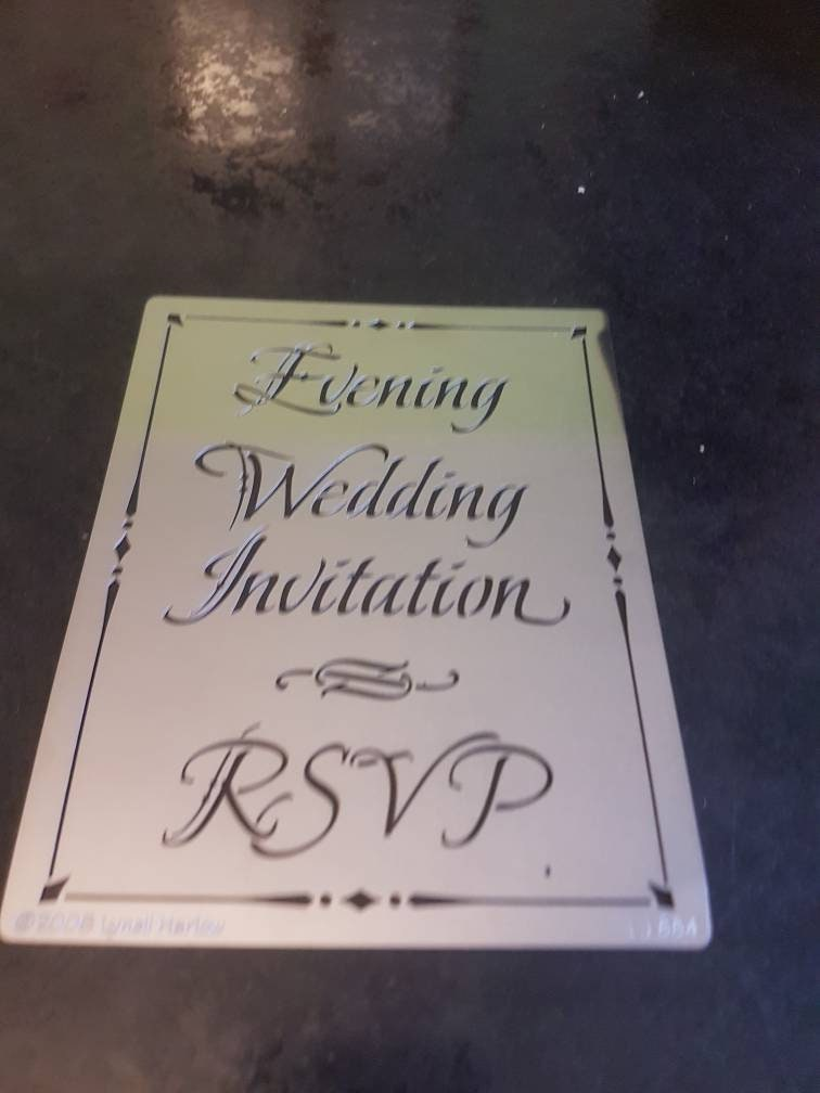 Reusable stencil and embossing g template. Can be used in embossing ...